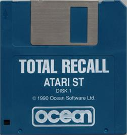 Artwork on the Disc for Total Recall on the Atari ST.