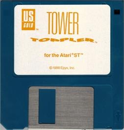 Artwork on the Disc for Tower Toppler on the Atari ST.