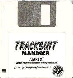 Artwork on the Disc for Tracksuit Manager on the Atari ST.