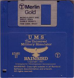 Artwork on the Disc for UMS: The Universal Military Simulator on the Atari ST.