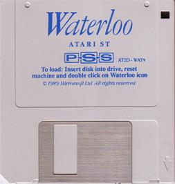 Artwork on the Disc for Waterloo on the Atari ST.
