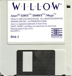 Artwork on the Disc for Willow on the Atari ST.