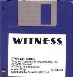 Artwork on the Disc for Witness on the Atari ST.