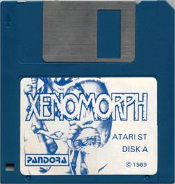 Artwork on the Disc for Xenomorph on the Atari ST.