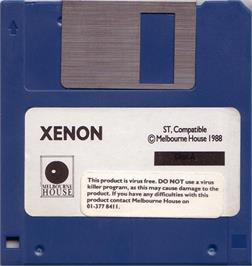 Artwork on the Disc for Xenon on the Atari ST.