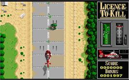 In game image of 007: Licence to Kill on the Atari ST.