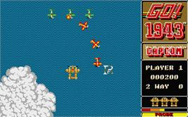 In game image of 1943: The Battle of Midway on the Atari ST.