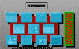 In game image of 1st Division Manager on the Atari ST.