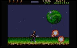 In game image of A.M.C.: Astro Marine Corps on the Atari ST.