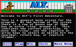 In game image of ALF: The First Adventure on the Atari ST.