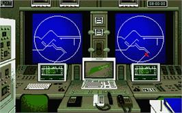 In game image of AV8B Harrier Assault on the Atari ST.