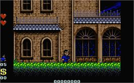 In game image of Addams Family, The on the Atari ST.