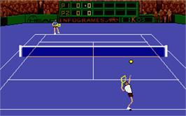 In game image of Advantage Tennis on the Atari ST.