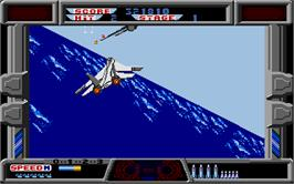 In game image of After Burner II on the Atari ST.