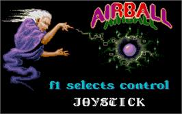 In game image of Airball on the Atari ST.