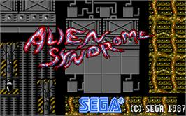 In game image of Alien Syndrome on the Atari ST.