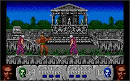 In game image of Altered Beast on the Atari ST.