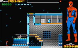 In game image of Amazing Spider-Man on the Atari ST.