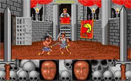 In game image of American Gladiators on the Atari ST.