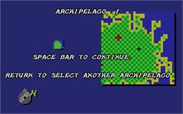 In game image of Archipelagos on the Atari ST.