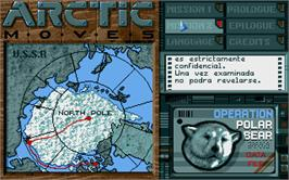 In game image of Arctic Moves on the Atari ST.