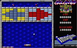 In game image of Arkanoid - Revenge of DOH on the Atari ST.
