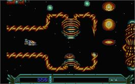 In game image of Armalyte on the Atari ST.