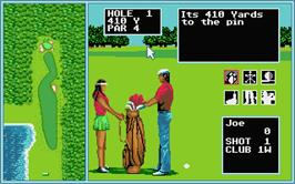 In game image of Arnold Palmer Tournament Golf on the Atari ST.