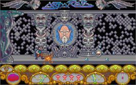 In game image of Astaroth: The Angel of Death on the Atari ST.