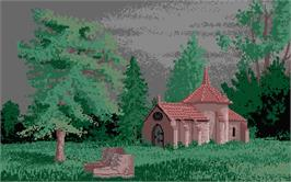 In game image of Astate: La Malédiction des Templiers on the Atari ST.