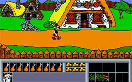 In game image of Asterix: Operation Getafix on the Atari ST.