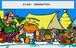 In game image of Asterix and the Magic Carpet on the Atari ST.