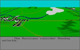 In game image of Austerlitz on the Atari ST.