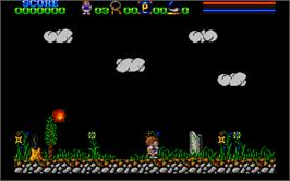 In game image of Axel's Magic Hammer on the Atari ST.
