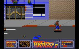 In game image of Back to the Future 2 on the Atari ST.
