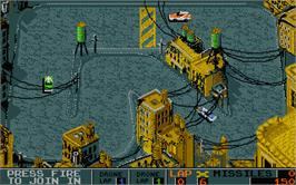 In game image of Bad Lands on the Atari ST.