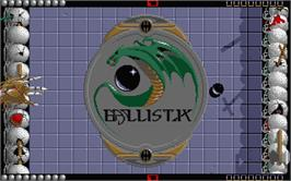 In game image of Ballistix on the Atari ST.
