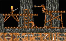 In game image of Barbarian on the Atari ST.