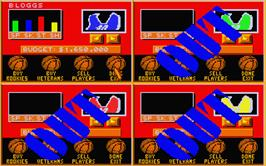 In game image of Basket Manager on the Atari ST.