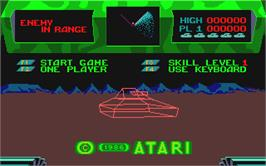 In game image of Battle Zone on the Atari ST.