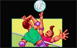 In game image of Beach Volley on the Atari ST.