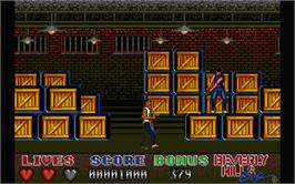 In game image of Beverly Hills Cop on the Atari ST.