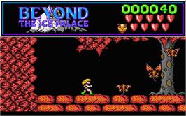 In game image of Beyond the Ice Palace on the Atari ST.
