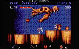 In game image of Black Tiger on the Atari ST.