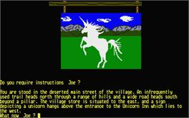 In game image of Blackscar Mountain on the Atari ST.