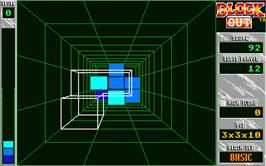 In game image of Blockout on the Atari ST.