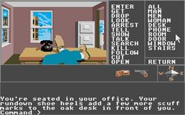 In game image of Borrowed Time on the Atari ST.