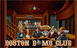 In game image of Boston Bomb Club on the Atari ST.