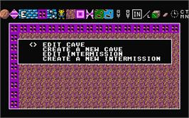 In game image of Boulder Dash Construction Kit on the Atari ST.