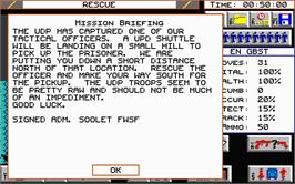 In game image of Breach 2 on the Atari ST.